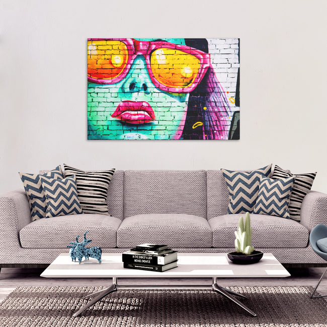 Woman on Wall Canvas Wall Art - Urban Art Collection - 4 Sizes - Mind Body Spirit