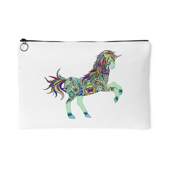 Boho Unicorn Zippered Carry-all Pouch - 2 Sizes