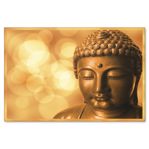 Golden Buddha Canvas Wall Art - Wonderful Expression of Faith in 4 Sizes - Mind Body Spirit