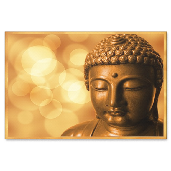 Golden Buddha Canvas Wall Art - Wonderful Expression of Faith in 4 Sizes