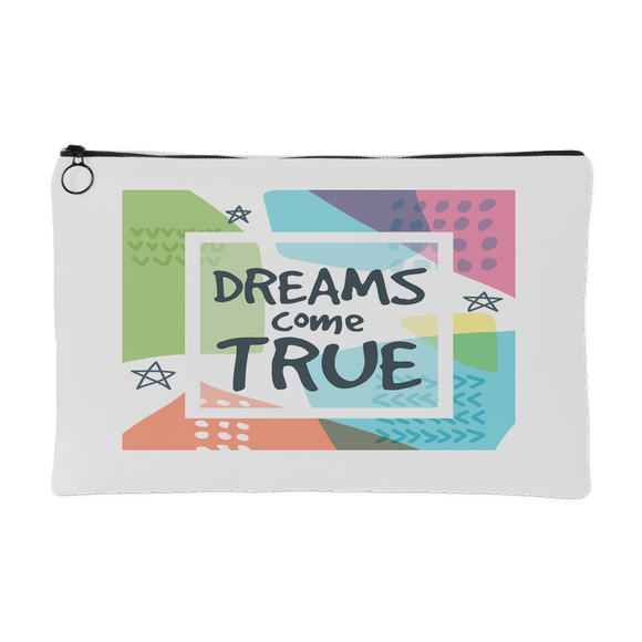 Dreams Come True Accessory Pouch - Two Sizes - White