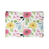 'Joelle' Fresh Watercolor Floral Custom Design Accessory Pouch, 2 Sizes - Mind Body Spirit