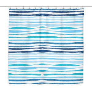 Ocean Stripe Shower Curtain 70 x 70