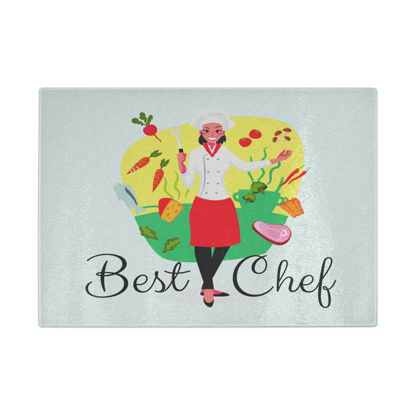 Best Chef Woman Designer Cutting Board - Durable Tempered Glass - Mind Body Spirit