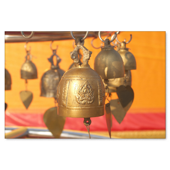 Tibetan Buddhist Bells Canvas Wall Art Decor in 4 Sizes