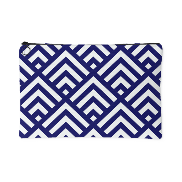 'Deana' Diamond Deco Custom Design Accessory Pouch, 2 Sizes Cobalt - Mind Body Spirit