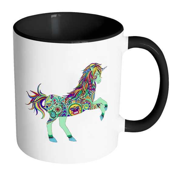 Boho Unicorn Coffee Tea & Cocoa Mugs 11 oz - 7 Colors - Mind Body Spirit