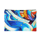 Flowing Colors Abstract Urban Art Design Zippered Pouch - 2 Sizes