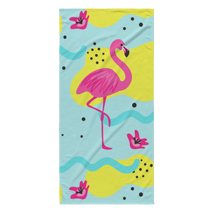 Kalila Pink Flamingo Designer Beach Towel 30 x 62 - Super Absorbent - Mind Body Spirit
