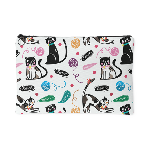 Kitty Love Custom Design Accessory Pouches, 2 Sizes - Mind Body Spirit