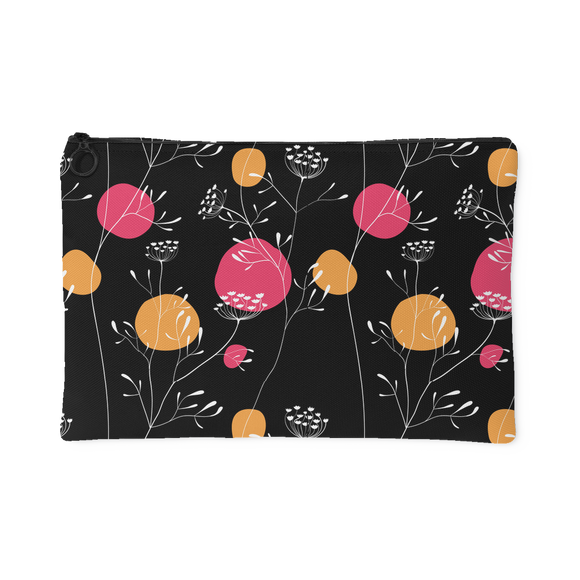 Izzy Fun Hip Flower Custom Design Accessory Pouch, 2 Sizes
