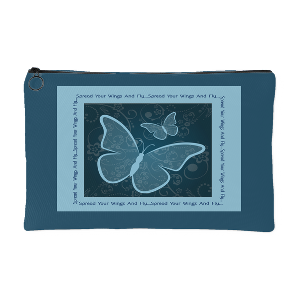 Spread Your Wings And Fly Zippered Accessory Pouch - Comes in 2 Sizes - Mind Body Spirit