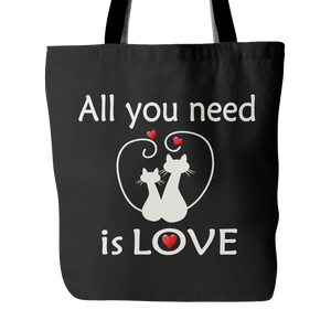 All You Need Is Love Tote Bag 18 x 18 - Black