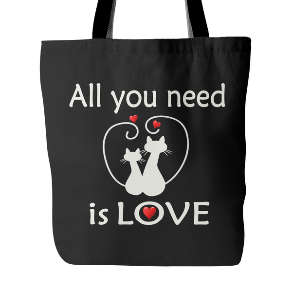 All You Need Is Love Tote Bag 18 x 18 - Black - Mind Body Spirit