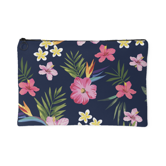 Leilani Fresh Tropical Custom Design Accessory Pouch, 2 Sizes