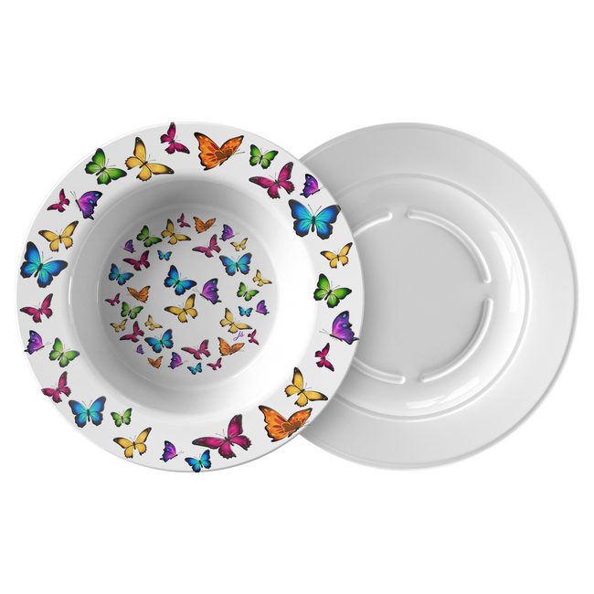 Butterfly Circle Designer Bowl 8.5 Inches Microwave, Dishwasher Safe - Mind Body Spirit