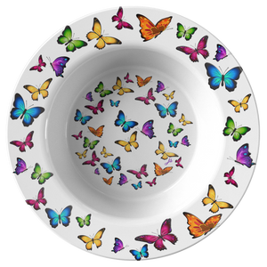 Butterfly Circle Designer Bowl 8.5 Inches Microwave, Dishwasher Safe