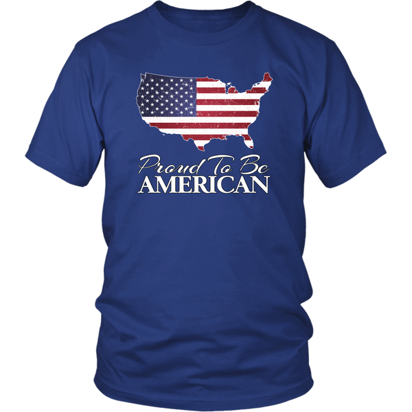 Proud To Be American Flag United States Unisex T-Shirt Cotton Tee