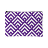 'Deana' Diamond Deco Custom Design Accessory Pouch, 2 Sizes Purple - Mind Body Spirit