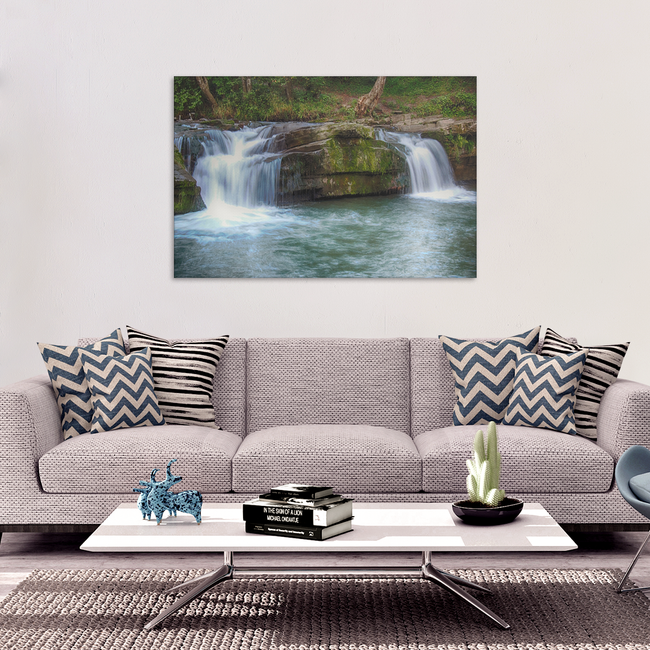 Natural Waterfalls Canvas Art - Soothing Waterfalls in 4 Sizes, 8x12, 16x24, 20x30, 24x36, - Mind Body Spirit