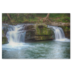 Natural Waterfalls Canvas Art - Soothing Waterfalls in 4 Sizes, 8x12, 16x24, 20x30, 24x36,