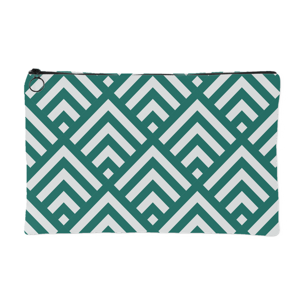 'Deana' Diamond Deco Custom Design Accessory Pouch, 2 Sizes Teal - Mind Body Spirit