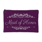 'Grace' Classic Plum Maid of Honor Zippered Accessory Pouch 8 x 5 - Mind Body Spirit