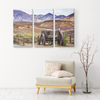 Old Wagon Near Foothills Triptych  3 Panel Canvas Wall Art, Rustic Look, Mountains, Country, Living Room, Family Room, Office, 3 Sizes - Mind Body Spirit