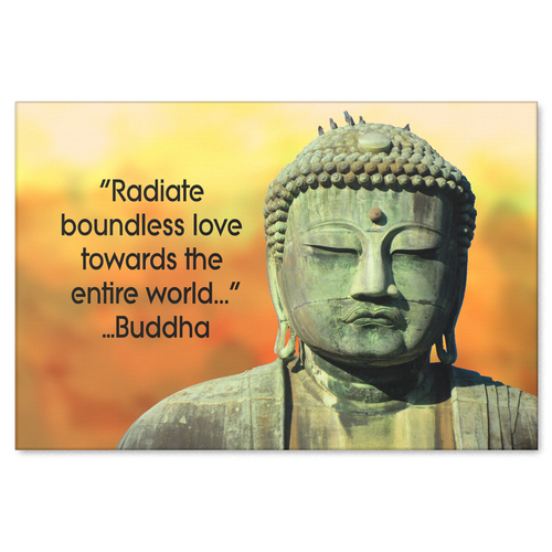 Radiate Boundless Love Buddha Quote Canvas Wall Art - Available in 4 Sizes - Mind Body Spirit