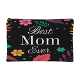 Best Mom Ever Zippered Accessory Pouch - Small 8 X 5, Large 8 X 12