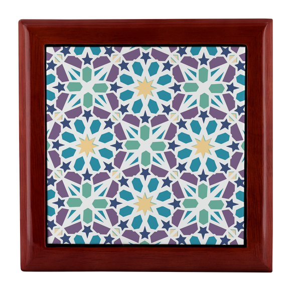 Kismet Mosaic Designer Wooden Jewelry Box in 3 Colors