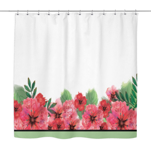 Poppy Border Design Shower Curtain 70 x 70