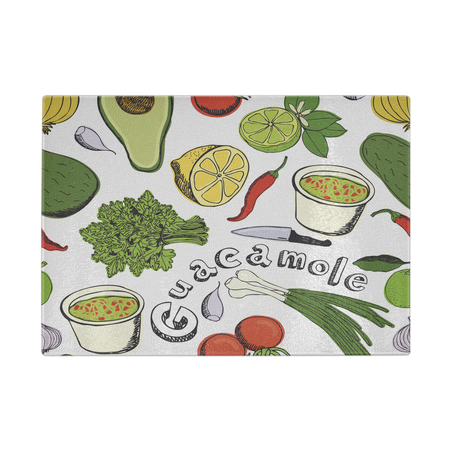 Made With Love Lady Chef Designer Cutting Board - Durable Tempered Glass