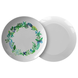 Butterfly Wreath Watercolor Designer Dinner Plate 10 Inches - Microwave, Dishwasher Safe