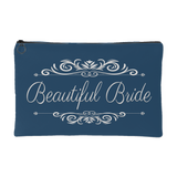 'Grace' Beautiful Bride Classic Marine Blue Zippered Accessory Pouch 8 x 5 - Mind Body Spirit