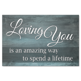 Loving You Wood Look Canvas Wall Art in Multiple Sizes