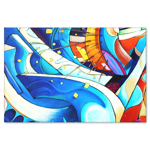 Flowing Colors Abstract Urban Art Design Canvas Wall Art - 4 Sizes - Mind Body Spirit