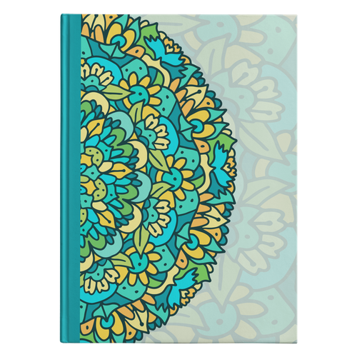 Zuli Mandala Designer Hardcover Journal in 2 Sizes - Mind Body Spirit