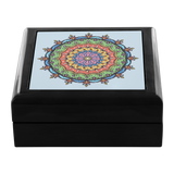 Dasia Mandala Designer Wooden Jewelry Box in 3 Colors