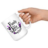 Family Where Love is Forever Large 15 oz Mug