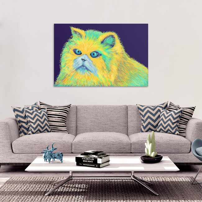 Kitty Blue Eyes Original Design Canvas Wall Art, Canvas Images, Picture, Painting -4 Sizes - Mind Body Spirit