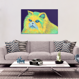 Kitty Blue Eyes Original Design Canvas Wall Art, Canvas Images, Picture, Painting -4 Sizes