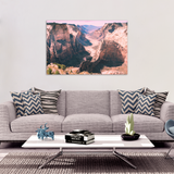 Rugged Canyon Canvas Art - Amazing Landscape in 4 Sizes - 8 x 12, 16 x 24, 20 x 30, 24 x 36, - Mind Body Spirit