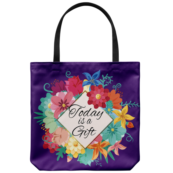 Today Is A Gift Custom Design Tote Bag 18 x 18 - Mind Body Spirit