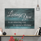 Loving You Wood Look Canvas Wall Art in Multiple Sizes - Mind Body Spirit