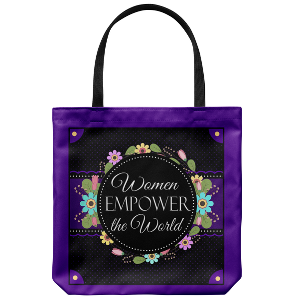 Women Empower The World Original Design Tote Bag 18 x 18 - Mind Body Spirit