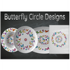 Butterfly Circle Designer Cutting Board - Durable Tempered Glass - Mind Body Spirit