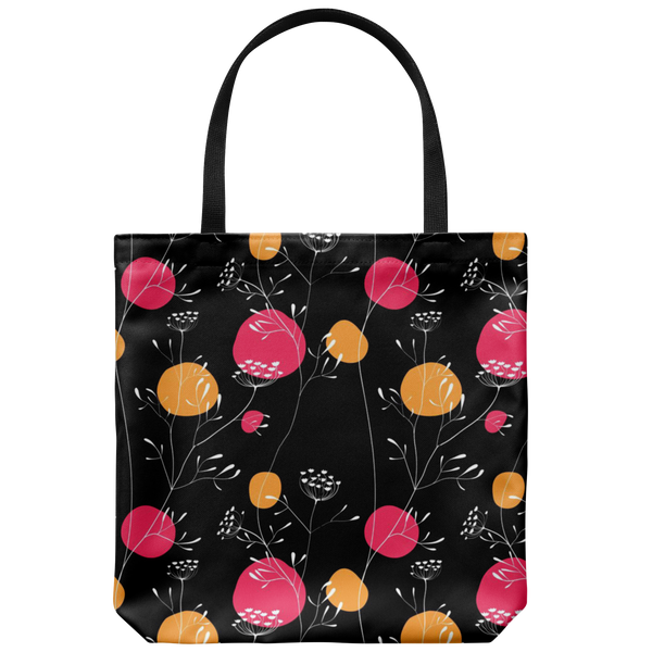 Izzy Fun Hip Flower Custom Design Tote Bag 18 x 18 - Mind Body Spirit