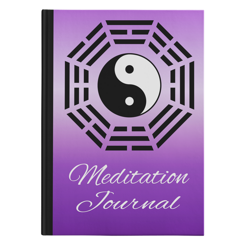 Ying Yang Designer Hardcover Meditation Journal in 2 Sizes - Mind Body Spirit