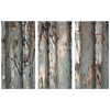 Triptych Worked Metal Rows Textured with Rust, Modern Industrial 3 Panel Canvas Wall Art, Grays, Rust, Black and White, Nice Neutral for Living Room, Family Room, Office - Mind Body Spirit